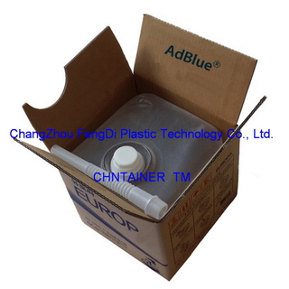 Cubitainers 10L used on AdBlue solution packaging